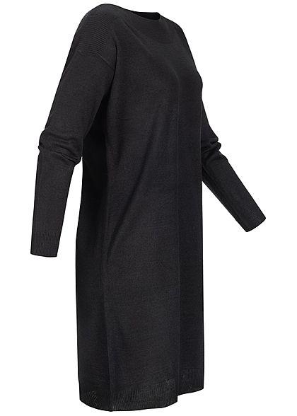 ONLY Damen Langarm Strickkleid schwarz