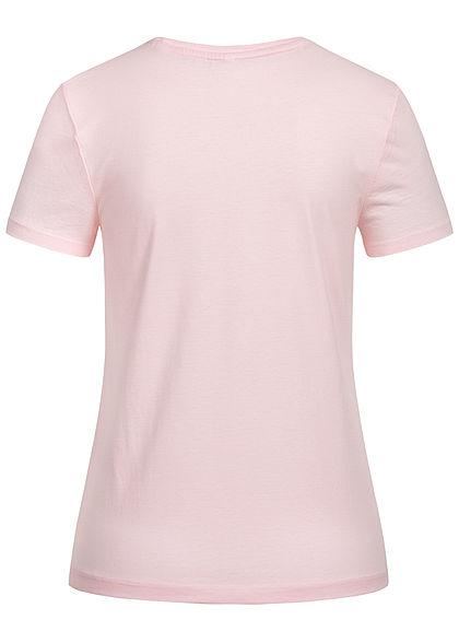 ONLY Damen Statement T-Shirt Nothing ballerina rosa blau