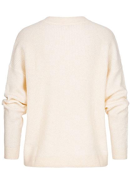 Tom Tailor Damen Sweater Strickpullover in Melange Optik dusty beige melange