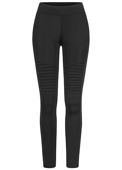 Urban Classics Damen Biker Leggings breiter Gummibund schwarz