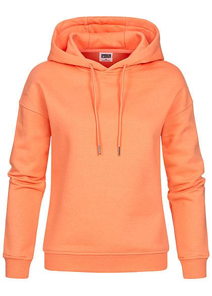 Urban Classics Damen Basic Hoodie mit Kapuze papaya orange