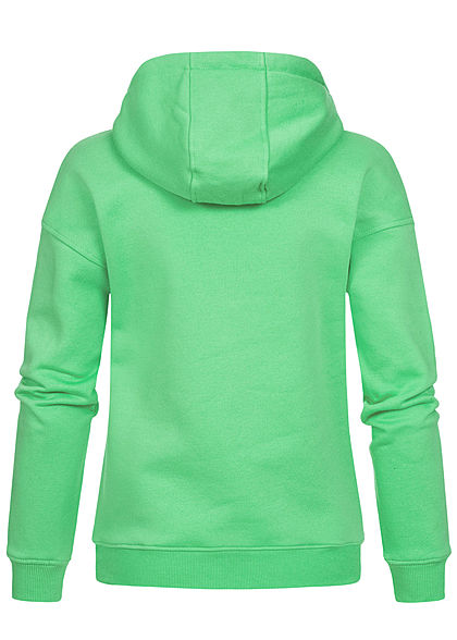 Urban Classics Damen Basic Hoodie mit Kapuze freshseed grün