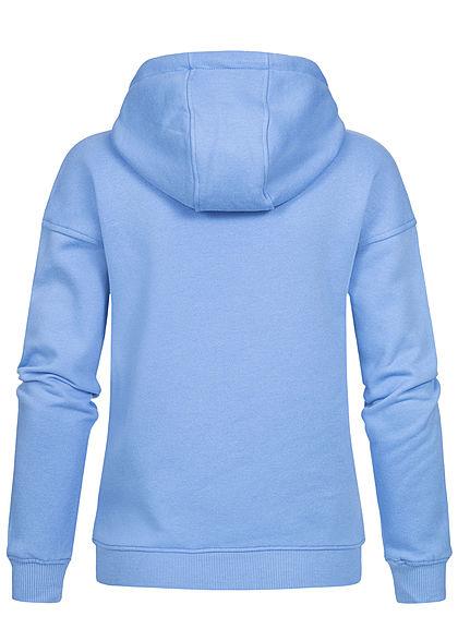 Urban Classics Damen Basic Hoodie mit Kapuze clearwater blau
