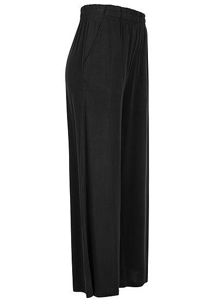 Urban Classics Damen 3/4 Modal Culotte Stoffhose Gummibund schwarz