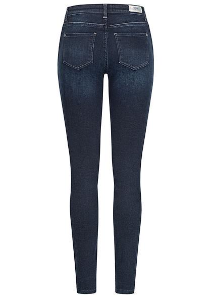ONLY Damen NOOS Skinny Jeans Hose 5-Pockets mit Zipper seitlich dunkel blau denim