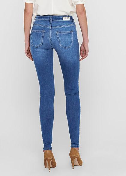 ONLY Damen NOOS Skinny Jeans Hose 5-Pockets Mid-Waist medium blau denim