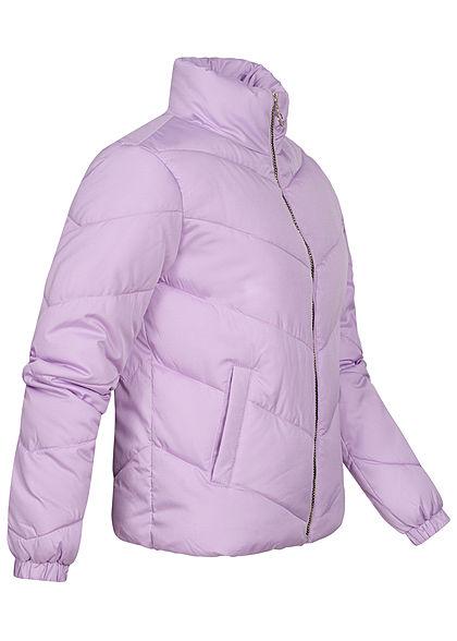 JDY by ONLY Damen kurze Steppjacke mit Stehkragen 2-Pockets pastel lilac lila