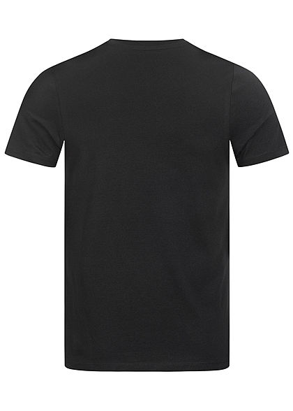 Jack and Jones Herren T-Shirt Frontprint Slim Fit tap shoe schwarz
