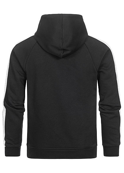 Jack and Jones Herren Sweat Hoodie mit Kapuze Logoprint Kägurutasche schwarz