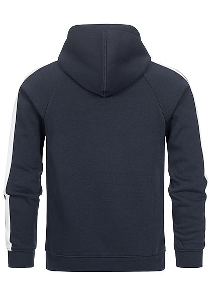 Jack and Jones Herren Sweat Hoodie mit Kapuze Logoprint Kägurutasche navy blazer blau