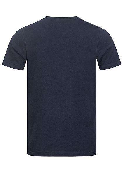 Jack and Jones Herren T-Shirt Skullers Print navy blazer