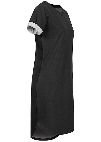 JDY by ONLY Damen NOOS Kurzarm Kleid Ärmelumschlag schwarz