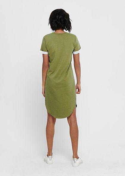 JDY by ONLY Damen NOOS Kurzarm Kleid Ärmelumschlag martini oliv grün