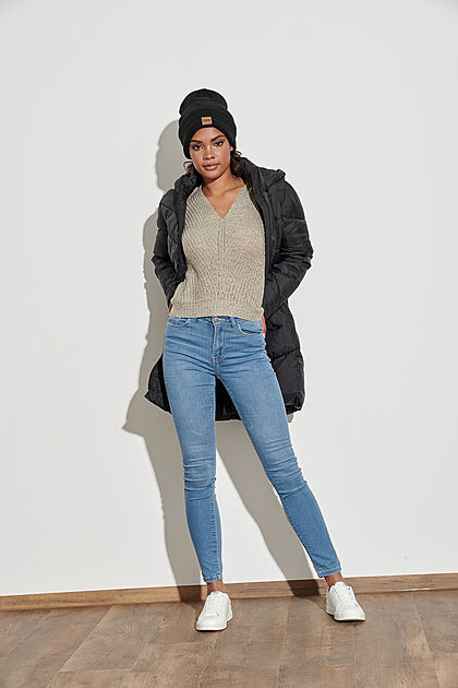 JDY by ONLY Damen NOOS Skinny Fit Jeans High-Waist 5-Pockets hell blau denim