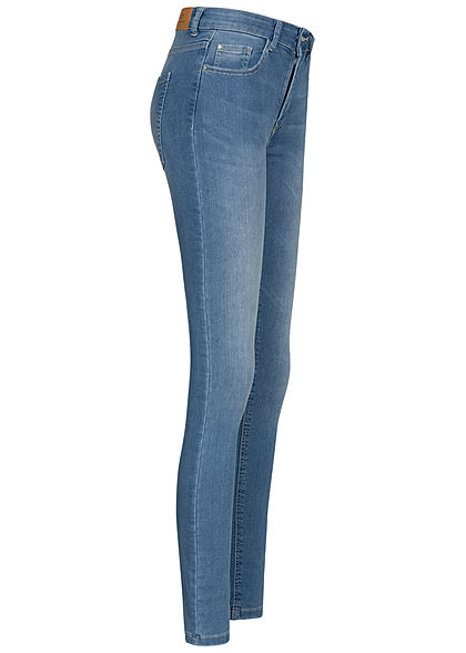 JDY by ONLY Damen NOOS Skinny Fit Jeans 5-Pockets mit Kontrastnähten hell blau denim