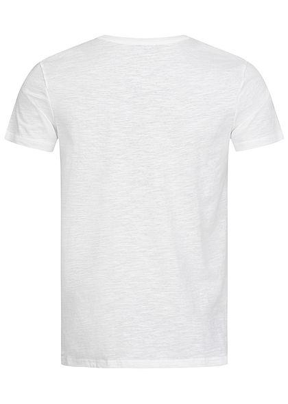 Sublevel Herren Surfer T-Shirt mit Frontprint weiss rot