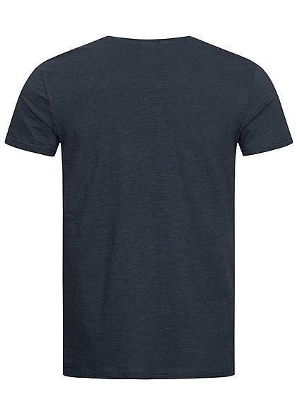 Sublevel Herren Surfer T-Shirt mit Frontprint navy blau