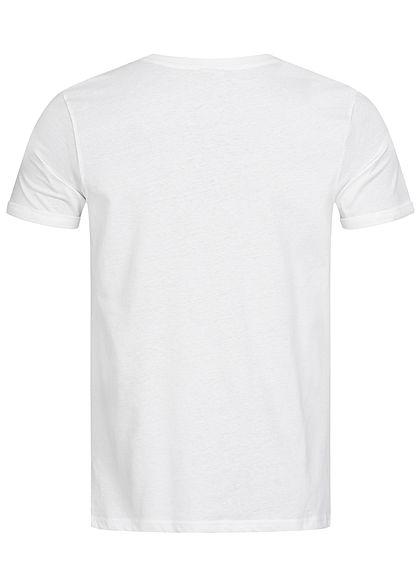 Sublevel Herren BBQ T-Shirt Ice Cream Frontprint weiss