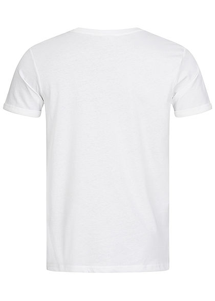 Sublevel Herren BBQ T-Shirt Oh Amore  Frontprint weiss