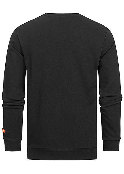 Sublevel Herren Sweater Pullover mit Brusttasche schwarz