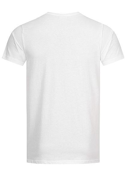 Stitch & Soul Herren T-Shirt Affen Fotoprint weiss