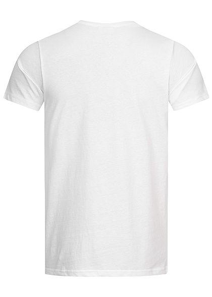 Stitch & Soul Herren T-Shirt Alpaca Fotoprint weiss