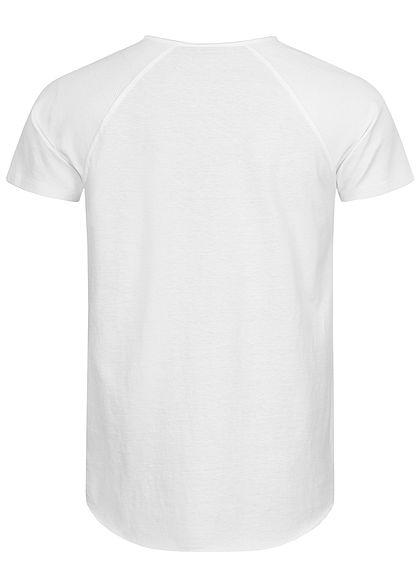 Eight2Nine Herren Ribbed Raglan T-Shirt weiss