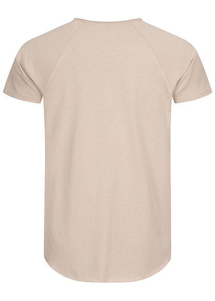 Eight2Nine Herren Ribbed Raglan T-Shirt birch beige