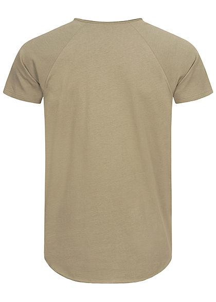 Eight2Nine Herren Ribbed Raglan T-Shirt washed oliv