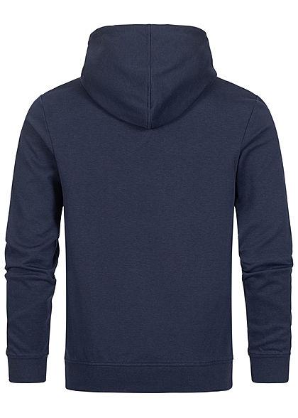 Jack and Jones Herren Sweat Hoodie mit Kapuze Logoprint Kägurutasche navy blazer blau