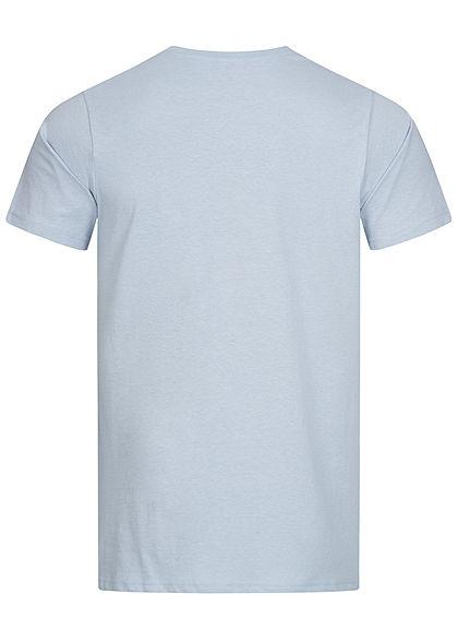 Stitch & Soul Herren T-Shirt Strand Print vorne vintage jeans blau