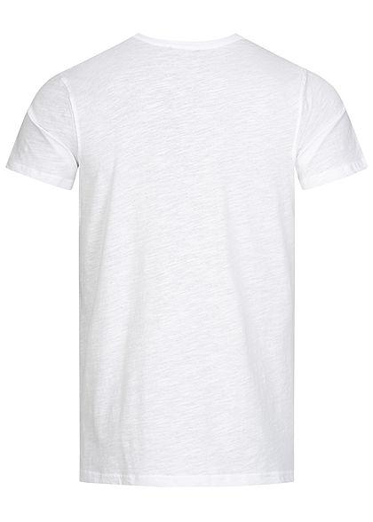 Stitch & Soul Herren T-Shirt Sommer Spruch Print vorne weiss