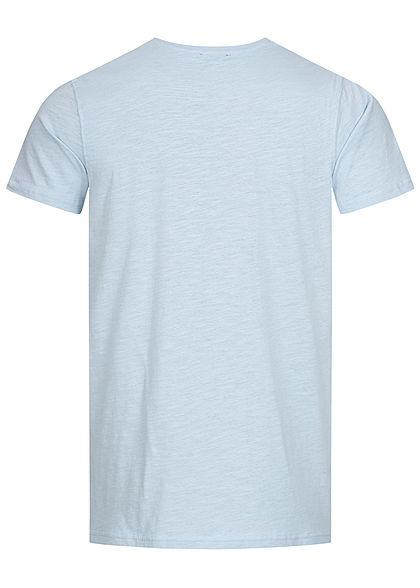 Stitch & Soul Herren T-Shirt Sommer Spruch Print vorne aqua hellblau