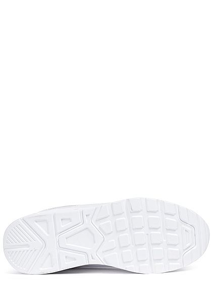 Seventyseven Lifestyle Damen Schuh Materialmix Sneaker zum schnüren unicolor weiss