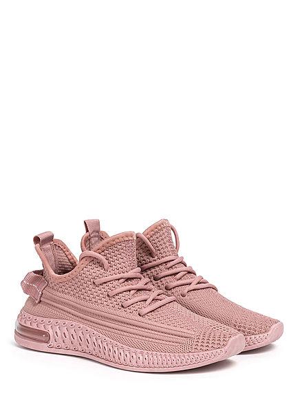 Seventyseven Lifestyle Damen Schuh Struktur Running Sneaker zum schnüren old rose pink
