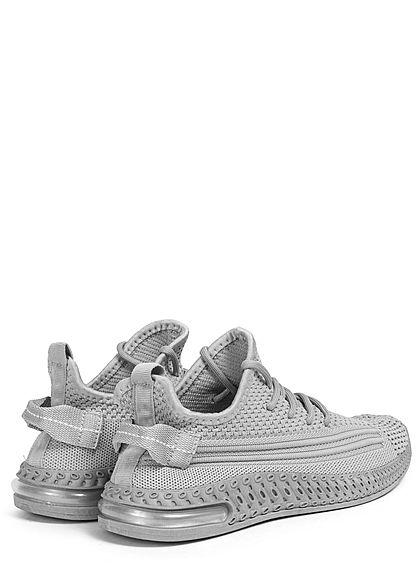 Seventyseven Lifestyle Damen Schuh Struktur Running Sneaker zum schnüren medium grau