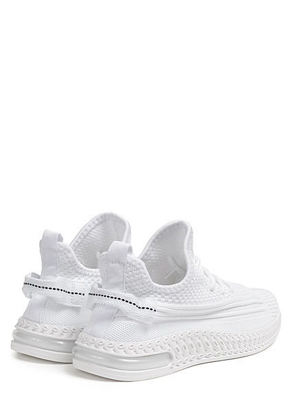 Seventyseven Lifestyle Damen Schuh Struktur Running Sneaker zum schnüren weiss