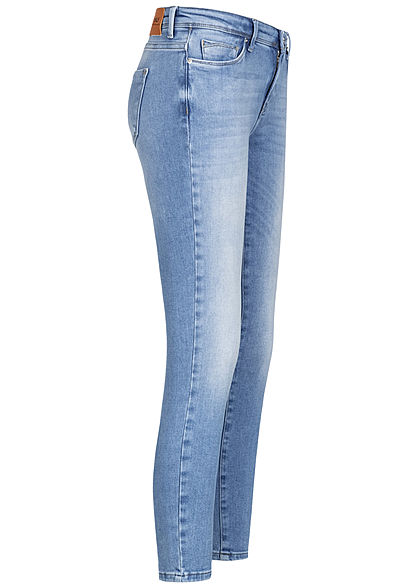 ONLY Damen NOOS Skinny Ankle Jeans Hose 5-Pockets Regular Waist hell blau denim