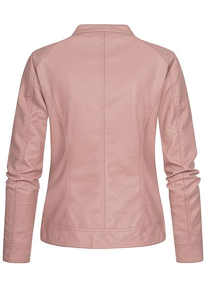 ONLY Damen NOOS Kunstleder Biker Jacke 2-Pockets adobe rosa