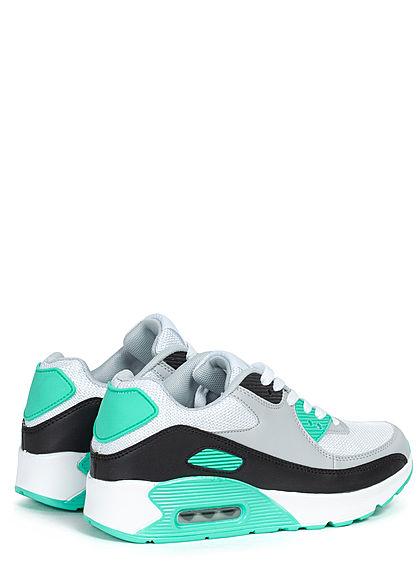 Seventyseven Lifestyle Damen Schuh Sneaker zum schnüren Colorblock weiss moonlight