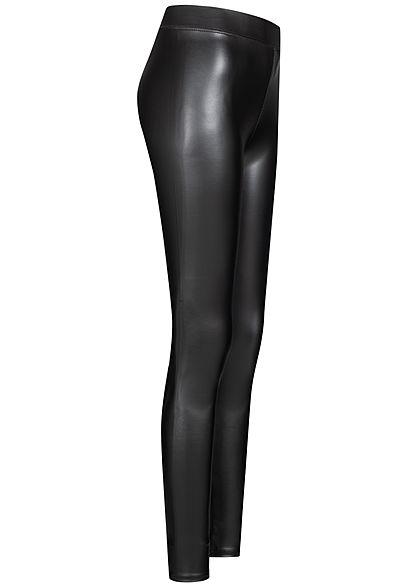 TALLY WEiJL Damen Kunstleder Leggings mit Gummibund schwarz