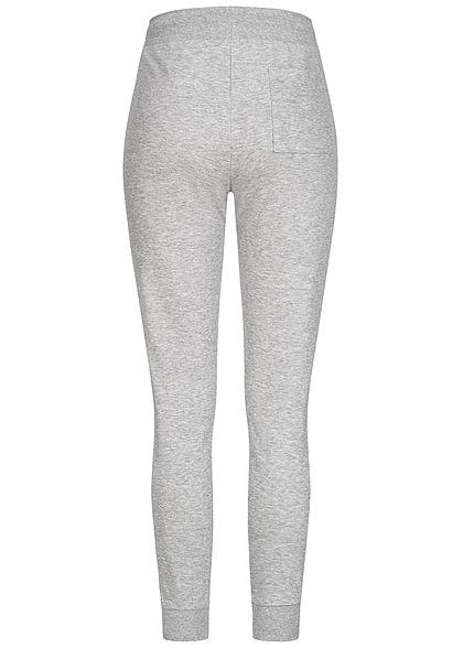 TALLY WEiJL Damen Basic Sweat Joggers Stoffhose 3-Pockets Tunnelzug gris chine hell grau
