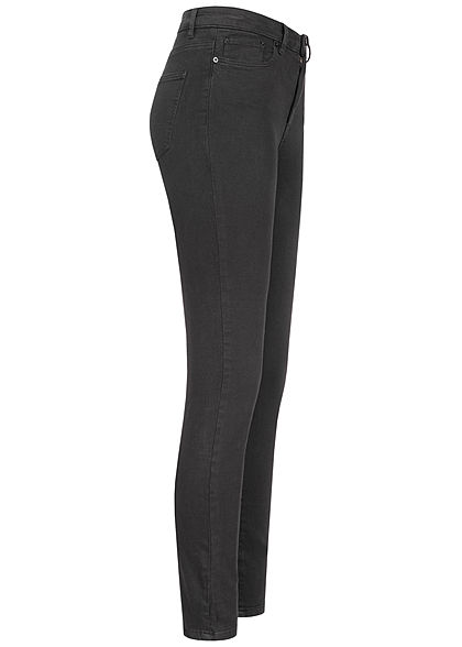 TALLY WEiJL Damen High-Waist Skinny Jeans Hose 5-Pockets schwarz denim