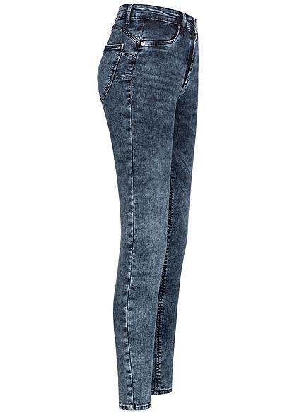 TALLY WEiJL Damen Push-Up Jeans Hose High-Waist 5-Pockets mid dark indigo