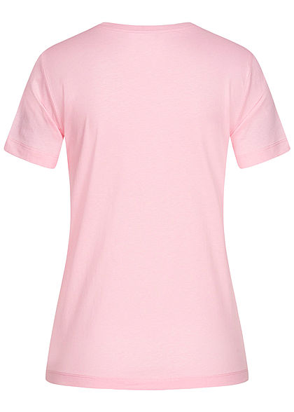 Champion Damen Basic Logo T-Shirt rosa weiss