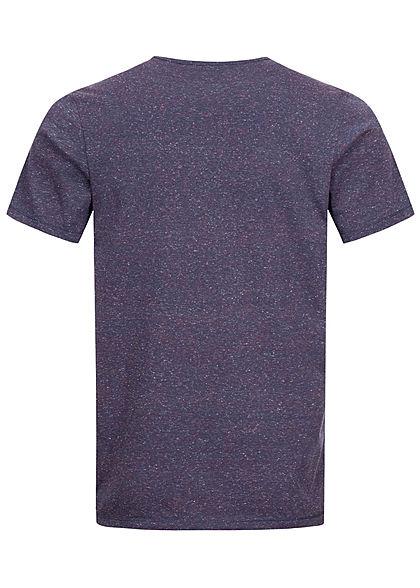 Tom Tailor Herren T-Shirt Logo Print in Wüstenschrift Streifen grindel blau
