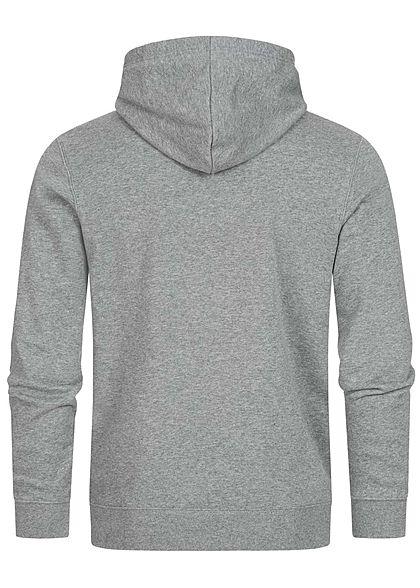 Champion Herren Colorblock Sweat Hoodie Logo Print Kapuze grau weiss schwarz