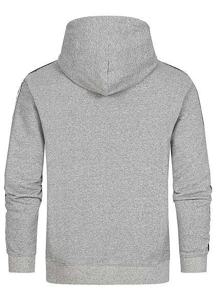 Champion Herren Sweat Hoodie Logo-Band seitlich Kapuze Kängurutasche medium grau
