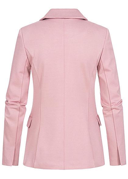 ONLY Damen Taillierter Blazer 2 Paspeltaschen Knopf vorne mauve shadows dunkel rosa