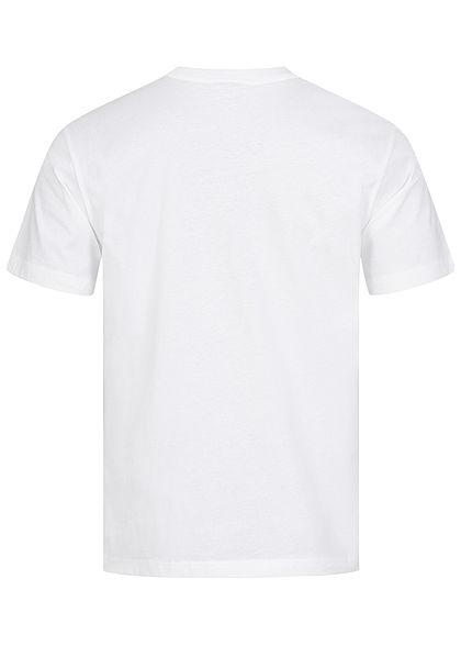 Champion Herren T-Shirt USA Frontprint Comfort Fit weiss schwarz rot
